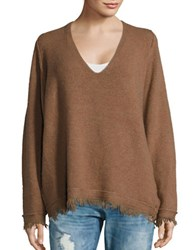 Free People Irresistible V Neck Sweater Brown
