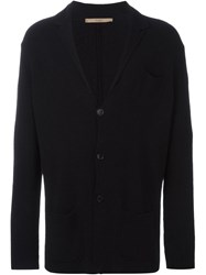 Nuur Button Down Relaxed Fit Cardigan Black