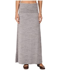 Carve Designs Seabrook Maxi Skirt Grey Space Dye Women's Skirt Gray