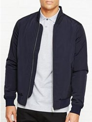 Reiss Eiffel Bomber Jacket Navy
