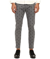 Love Moschino Logo Print Chino Pants Grey Black Men's Casual Pants Gray