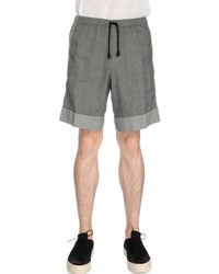 Dries Van Noten Drawstring Jacquard Shorts Gray