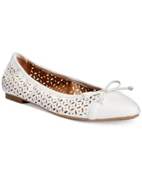 Rialto Sofie Perforated Ballet Flats Women's Shoes White