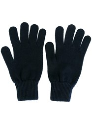Paul Smith Cashmere Gloves Blue