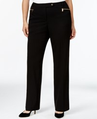 Calvin Klein Plus Size Straight Leg Dress Pants Black