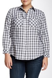 Sandra Ingrish Flannel Heather Check Shirt Gray