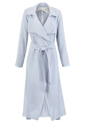 Miss Selfridge Trenchcoat Blue Light Blue