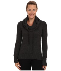 Columbia She Pines For Alpine Ii Pullover Black Heather Women's Long Sleeve Pullover