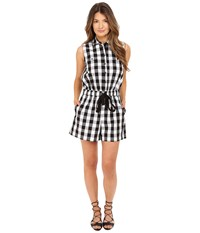 Kate Spade Gingham Romper Black Fresh White