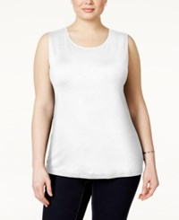 Alfani Plus Size Sleeveless Layering Tank Only At Macy's Bright White