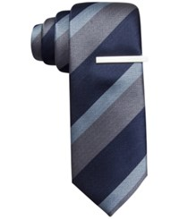 Alfani Red North Stripe Skinny Tie Only At Macy's Blue