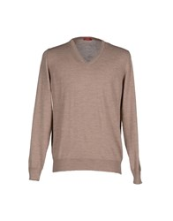 Altea Knitwear Jumpers Men Khaki