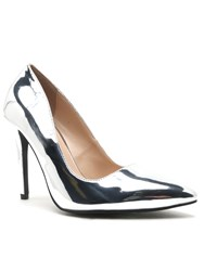 Qupid Milia Court Shoe Silver