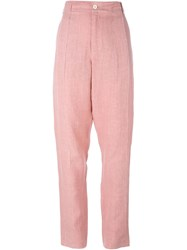 Damir Doma Drop Crotch Trousers Pink And Purple