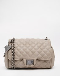 Marc B Knightsbridge Quilted Shoulder Bag Grey