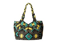 Rafe New York Playa Tote Black Green Tile Tote Handbags