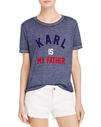 Eleven Paris Karl Is My Father Tee Navy