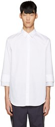 3.1 Phillip Lim White Double Cuffs Shirt