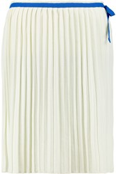 See By Chloe Pleated Jersey Skirt White