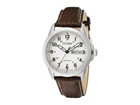 Citizen Aw0040 19X Eco Drive Strap Silver Tone Stainless Steel Watches Bronze