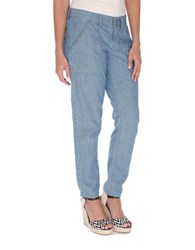Lucky Brand Relaxed Chambray Cotton Pants
