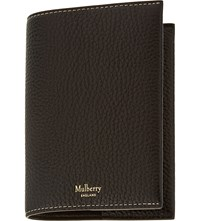Mulberry Grained Leather Passport Cover Black