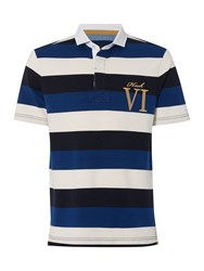Howick Staxton Striped Short Sleeve Rugby Royal