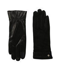 Cole Haan Braided Cuff Suede Gloves With Tech Black Extreme Cold Weather Gloves