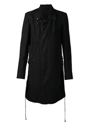 Ann Demeulemeester Casual Trench Coat Black