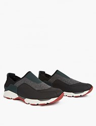 Marni Panelled Leather Running Sneakers