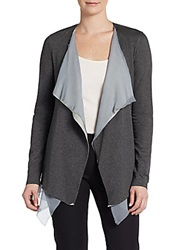 Bailey 44 Karaoke Silk Trim Cardigan Charcoal