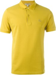 Burberry Brit Classic Polo Shirt Yellow And Orange
