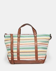 Liquorish Stripe Shoulder Bag Multi