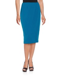 Nipon Boutique Slitted Pencil Skirt Teal
