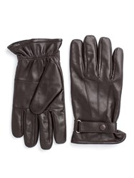 Paul Costelloe Longford Leather Gloves With Tab Brown