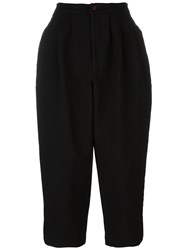 Comme Des Garcons Tapered Short Trousers Black