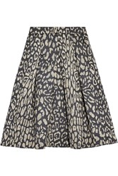 Iris And Ink Tara Leopard Jacquard Midi Skirt