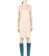 Lanvin Sleeveless Satin Dress Pink