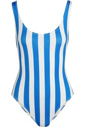 Solid And Striped The Anne Marie Striped Swimsuit Azure