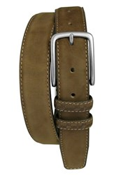 Men's Boconi 'Tyler' Double Stitched Suede Belt