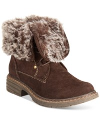 Wanted Stout Faux Fur Hiker Booties Women's Shoes Brown