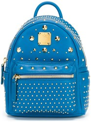 Mcm Studded Backpack Blue