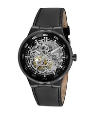 Kenneth Cole Mens Black Skeleton Dial Watch