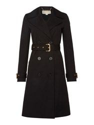 Michael Kors Fit And Flare Trench Coat Black