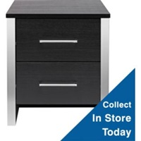 Buy New Genova 2 Drawer Bedside Chest Black At Argos.Co.Uk Your Online Shop For Bedroom And Bathroom Furniture Limited Stock Home And Garden Bedside Cabinets.