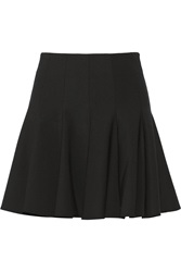 Elizabeth And James Morrison Ruffled Stretch Jersey Mini Skirt Black