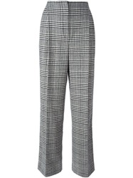 Lanvin Houndstooth Print Trousers Black