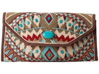 Mary Frances Turquoise Power Multi Clutch Handbags