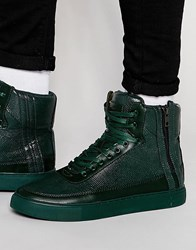Criminal Damage Python Mid Trainers Green