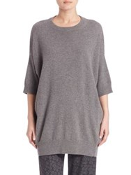 Vince Slouch Cashmere Sweater Stone Black